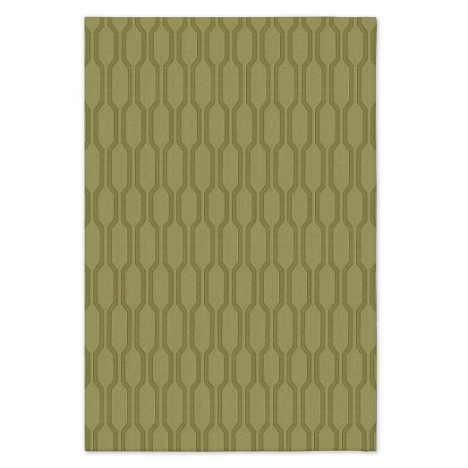 Honeycomb Textured Rug - Pear