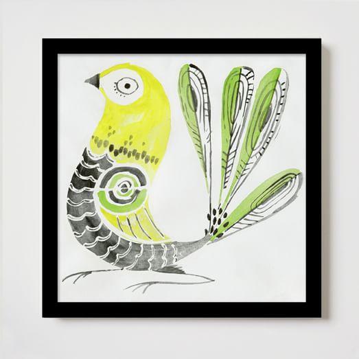 Framed Print, Yellow Pheasant