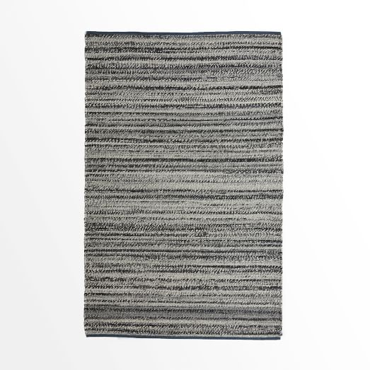Steven Alan Tweed Wool Rug, 3'x5, Heather Gray