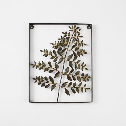 Metal Fern Wall Art, Lace