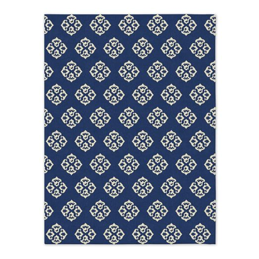 Andalusia Wool Dhurrie - True Blue