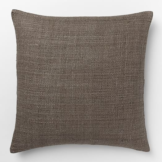 Silk Handloomed Pillow Cover, 20'x20', Mocha