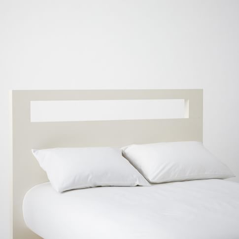 Tall Wood Cutout Headboard Twin, White