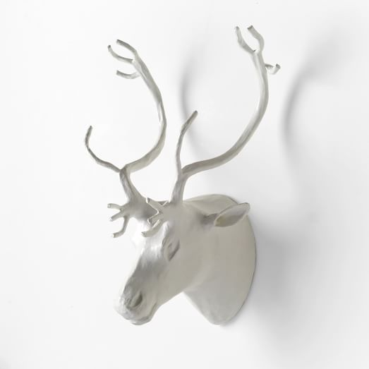 Paper Mache Wall Art, Reindeer, Medium