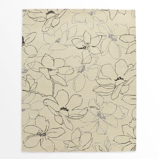 Magnolia Rug, Ivory, 9'x12'