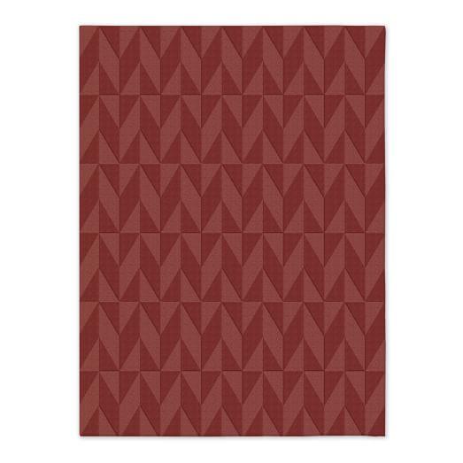 Andes Wool Rug - Rust