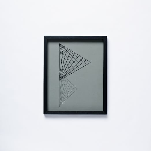 Geo Stitch Wall Art, Triangles