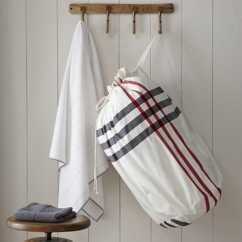 Laundry Bag, High Tide, Stone White/Market Red