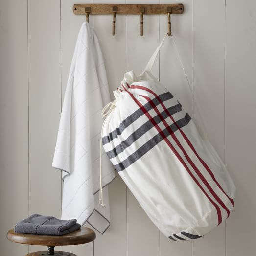 Laundry Bag, High Tide, Stone White/Market Red