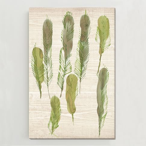 Birch Print, Feather Trees II