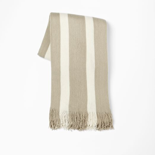 Softest Throw, Stripe, Dune/Ivory