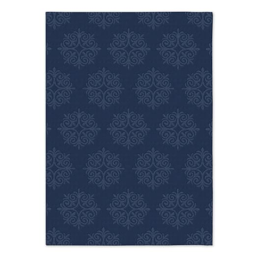 Emblem Wool Rug - Midnight