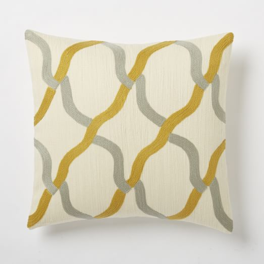 Chain Crewel Pillow Cover, 18