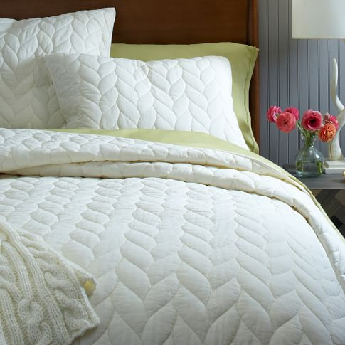 Braided Quilt, Twin, Ivory