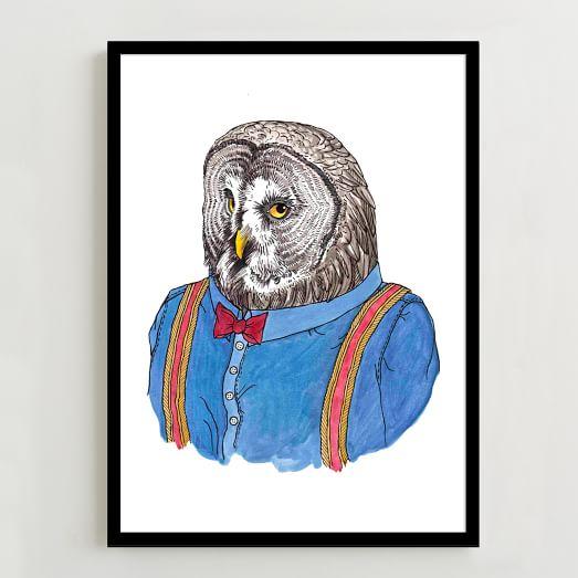 Rachel Kozlowski Owl Print
