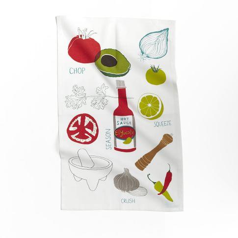 Claudia Pearson Tea Towel, Guacamole