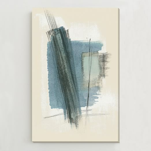 Oversized Abstract Wall Art, Blue