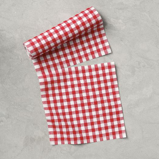 MYDrap Tear-Off Napkins, Red Gingham