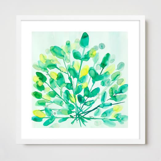 Framed Print, Green Seaweed