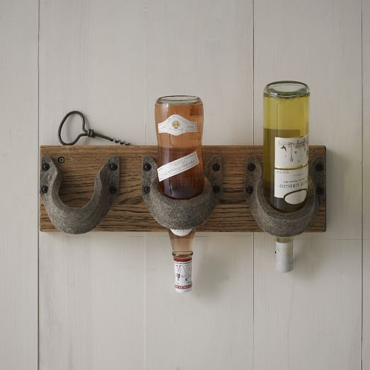 Felt + Wood Wine Rack, 3 Bottle