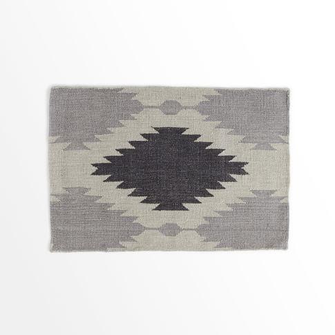 Phoenix Wool Dhurrie Rug, Iron, 2'x3'