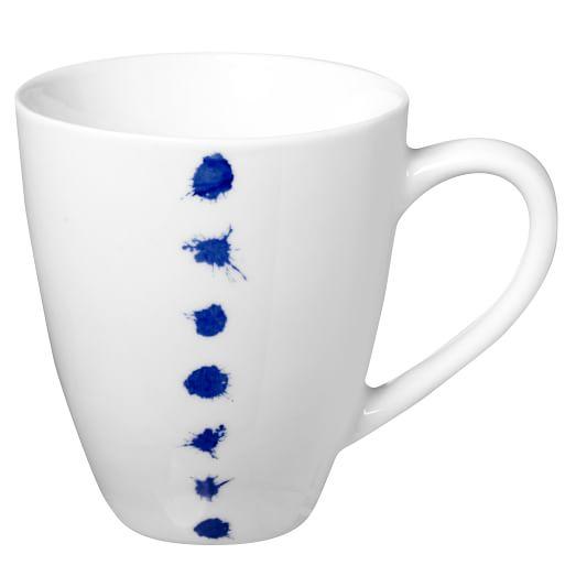 Blue Splatter Dinnerware, Set of 4, Mug