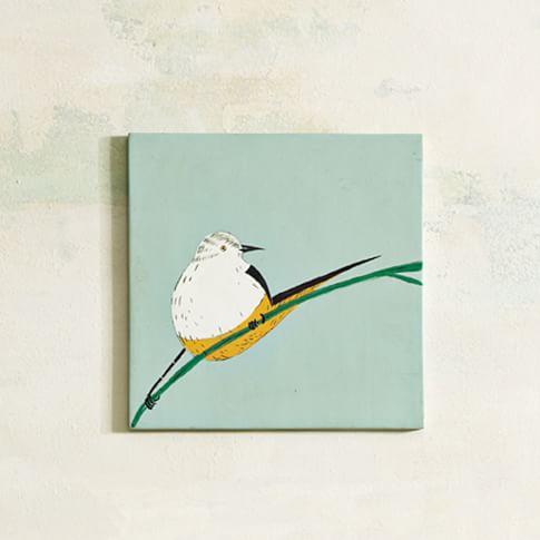 Gemma Orkn Tile, Yellow Belly Bird, Small