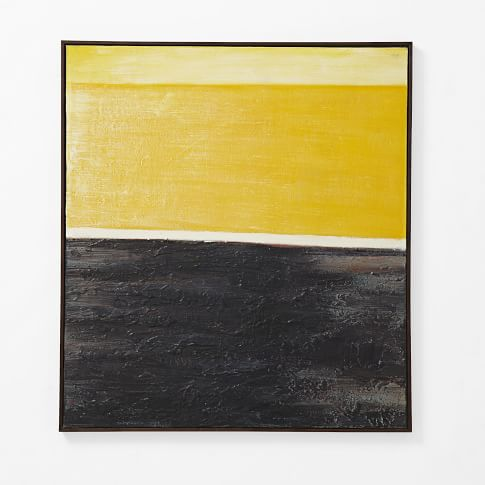 Abstract Wall Art, Yellow