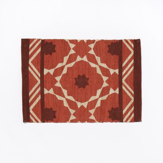 Fiesta Tile Printed Rug, 2'x3', Desert Sunset