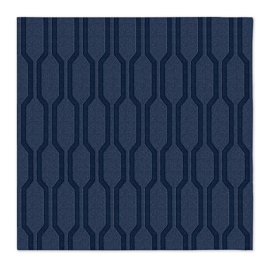 Honeycomb Textured Rug - Midnight