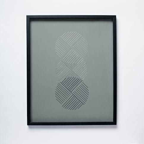 Geo Stitch Wall Art, Circles