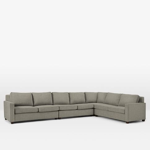 Henry Set 6 :Armless Loveseat, Left Arm Loveseat, Right Arm Loveseat, Corner, Heathered Tweed, Cement