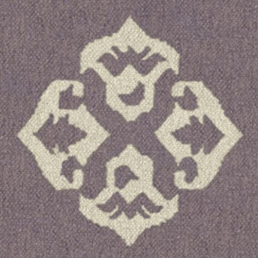 Custom Andalusia Dhurrie, Dark Iris, 16'x16' Swatch