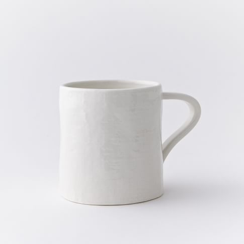 Linen Textured Mugs, Set of 4, White