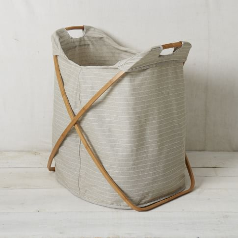 Bamboo Laundry Hamper, Double