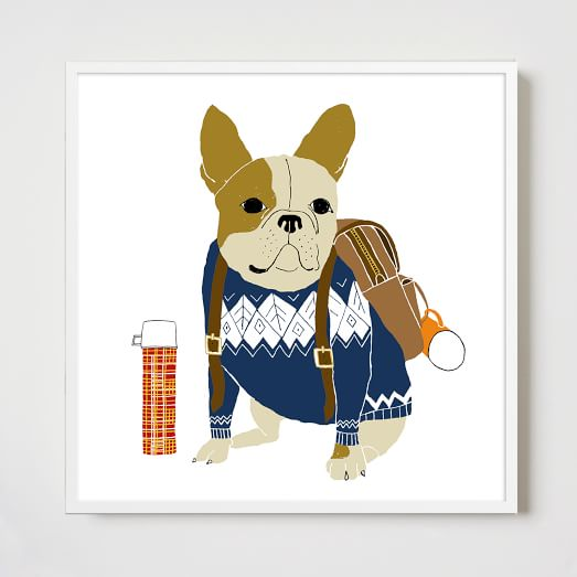 Claudia Pearson Frenchie Print