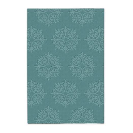 Emblem Wool Rug - Lapis