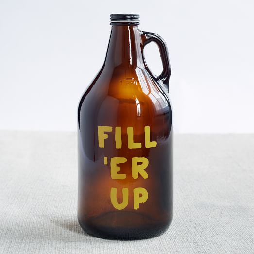 Printed Growler, Fill'Er Up