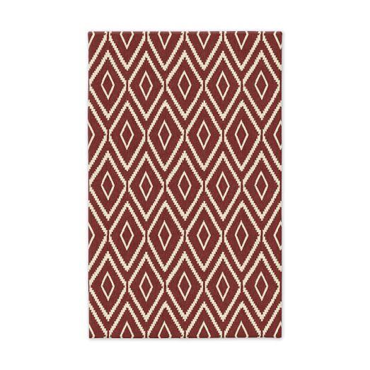 Kite Wool Kilim - Rust