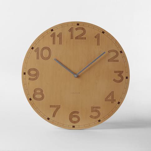 Basic Wood Wall Clock