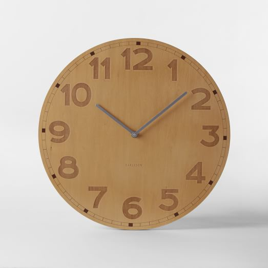 Basic Wood Wall Clock