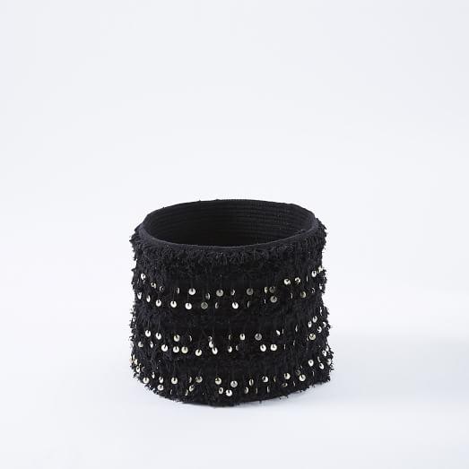 Moroccan Wedding Basket, Black