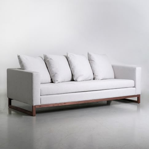 Toss Back Sofa, Soft Weave, Cement