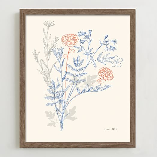 Minted for West Elm, Flora Number One