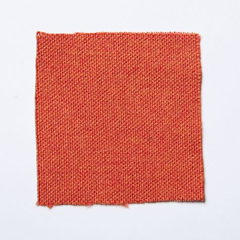 Upholstery Fabric by the Yard, Brushed Heathered Cotton, Grapefruit