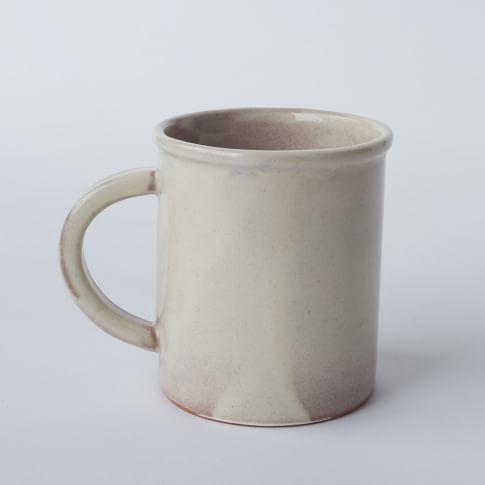 Glazed Terracotta, Mugs, Set of 4, White