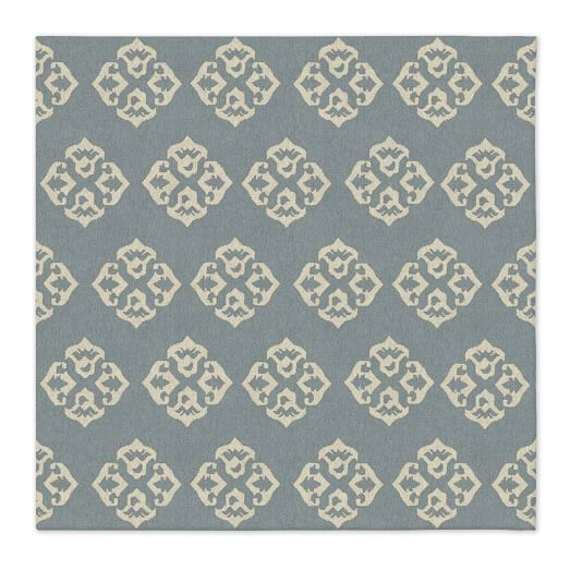 Andalusia Wool Dhurrie - Blue Sage