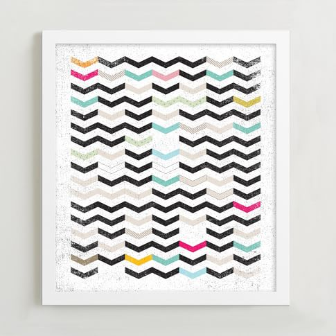 Minted for West Elm, Dirty Chevron