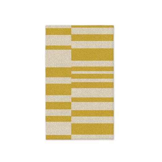 Offset Stripe Dhurrie - Horizon