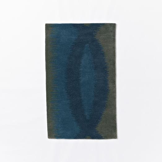 Lagoon Wool Rug, 3'x5', Green